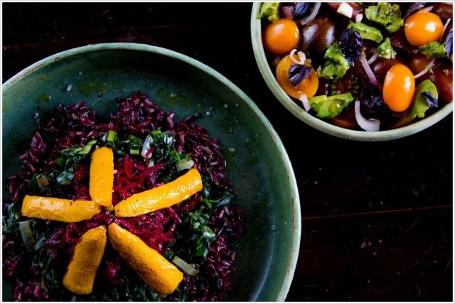 אורז בר עם ירקות צבעוניים בויניגרט
